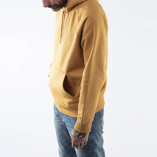Carhartt WIP Hooded Chase Sweat I026384 WINTER SUN/GOLD