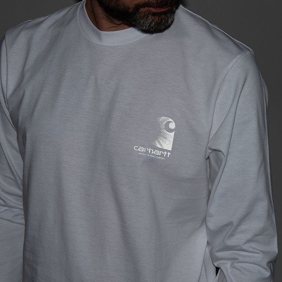 Carhartt WIP Reflective Headlight Longsleeve I028462 WHITE/REFLECTIVE GREY