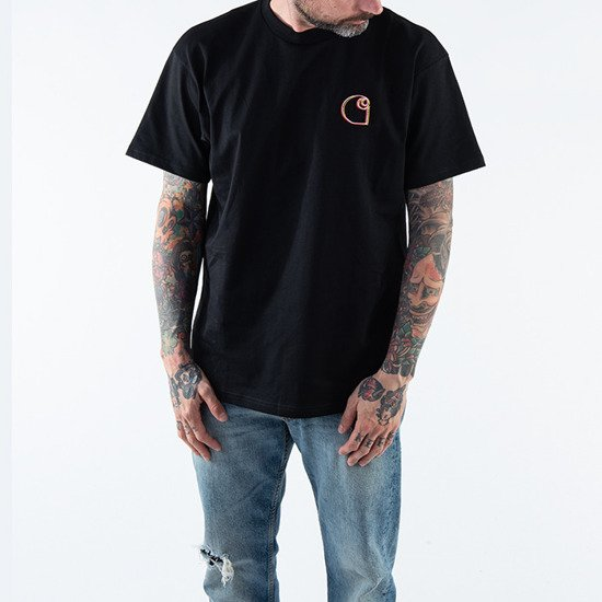 Carhartt WIP S/S Commission Logo T-Shirt I028460 BLACK