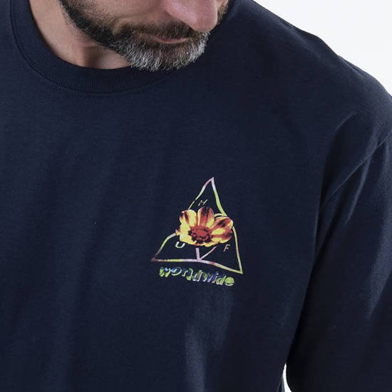 HUF Come Down Triple Triangle T-shirt TS01171 FRENCH NAVY