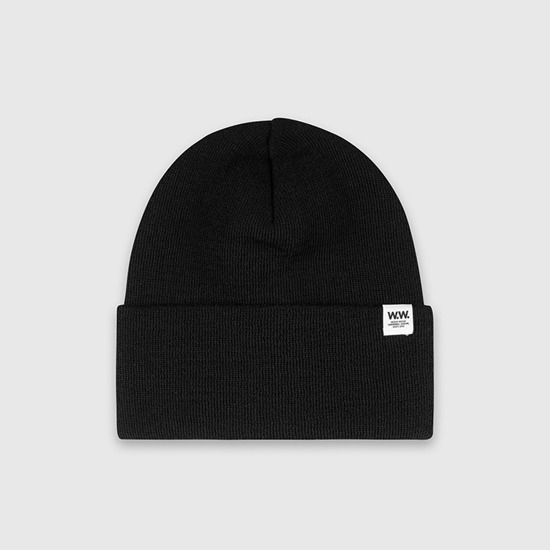 Wood Wood Gerald Tall Beanie 11930812-4068 Black