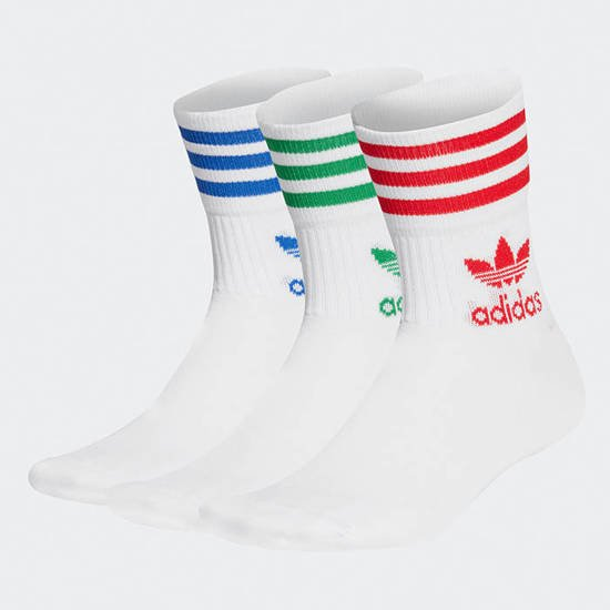 adidas Originals Mid Cut Crew Socks 3-pack GG1015